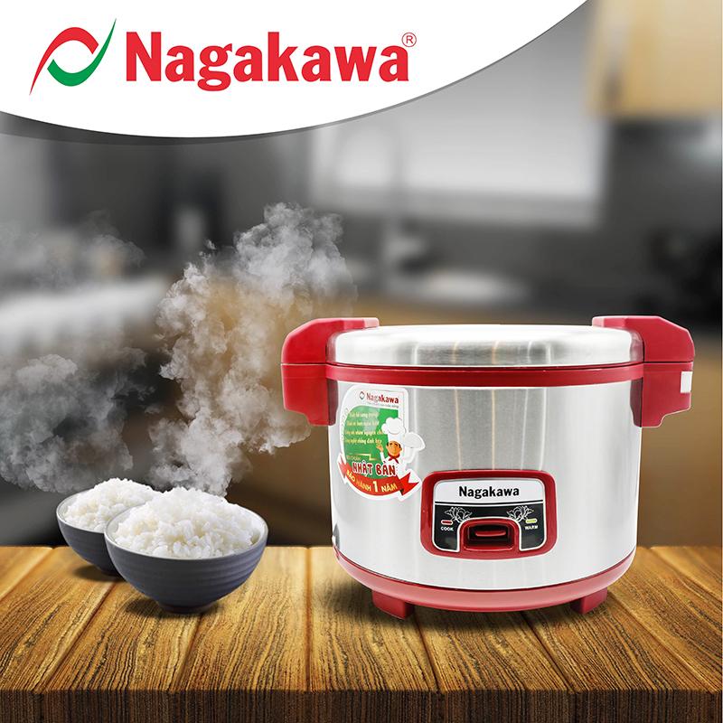 Nồi cơm điện Nagakawa nắp gài NAG0108 (4.6 Lít) - Hàng chính hãng