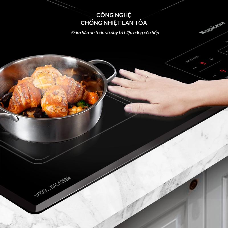 Nagakawa ra mắt siêu phẩm Bếp 3 lò điện từ hồng ngoại Inverter NAG1253M